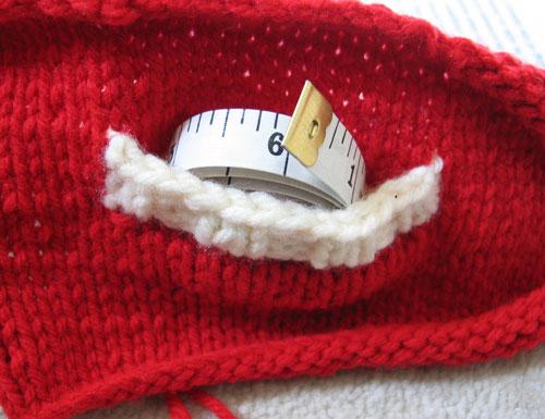 Una muestra con un bolsillo agregado al final.