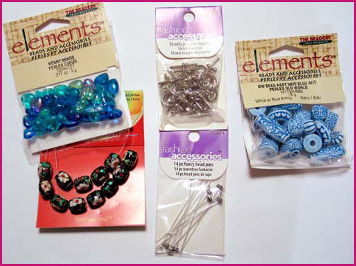 Materials I used to make my stitch markers