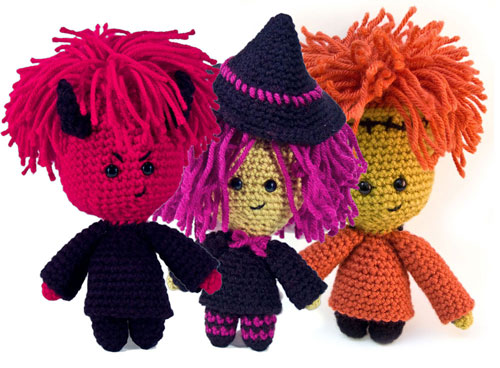My three Halloween amigurumi patterns